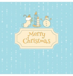 Xmas objects card vector image