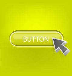 button with the mouse pointer vector image vector image