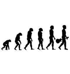 evolution of acoustic guitar player vector image vector image