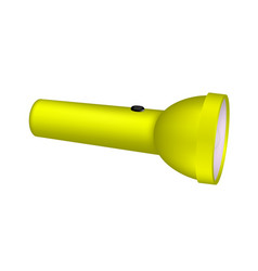 flashlight in yellow design vector image