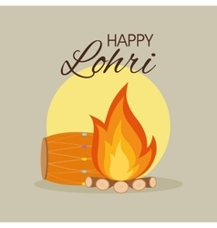 happy lohri background vector image