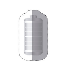 Sticker battery symbol zero level charge vector