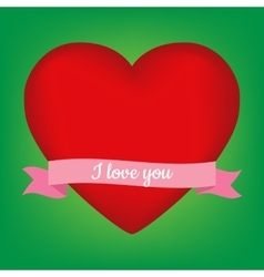 Valentines heart background vector image