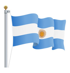 waving argentina flag isolated on a white vector image vector image
