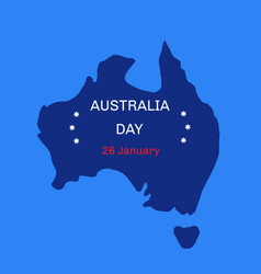 australia day theme 26 january vector image