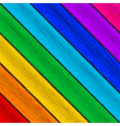 Colorful wood background vector image