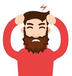 Headache attack Head pain vector image