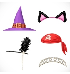 Set of hats for the carnival costumes - Witch hat vector image vector image