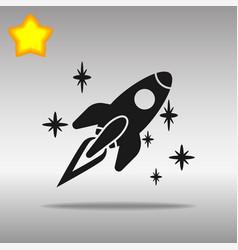 spaceship black icon button logo symbol vector image vector image