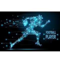 Running footballer polygonal vector image