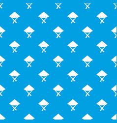 vietnamese hat pattern seamless blue vector image vector image
