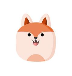cute wolf animal head vector image