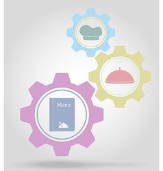 gear mechanism concept 20 vector image vector image
