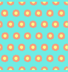 simple floral pattern with rounded elements vector image vector image