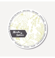 Sticker for package design with hand drawn spicy vector image