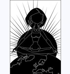 Yoga position vector image vector image