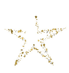 3d golden star banner simple form template card vector