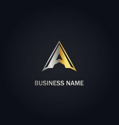 A initial triangle logo vector