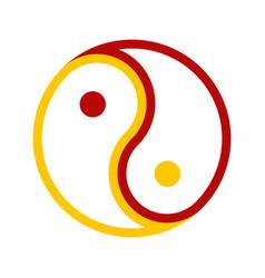 Abstract yin and yang balance symbol graphic vector