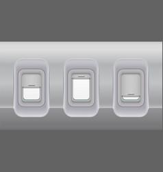 airplane fuselage windows aircraft indoor vector image