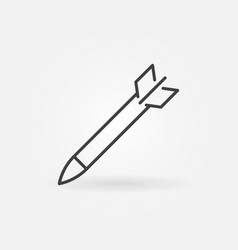 airstrike outline concept icon vector image