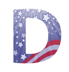 american letter D vector image