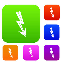 arrow lightning set collection vector image