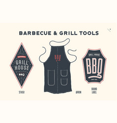 Barbecue and grill tools vector