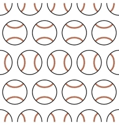 Baseball seamless pattern with sport balls vector