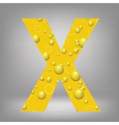 Beer letter X vector