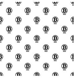Bitcoin icon simple style vector