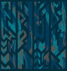 blue color tribal seamless pattern vector image