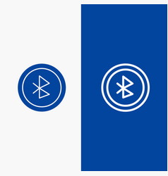 Bluetooth ui user interface line and glyph solid vector