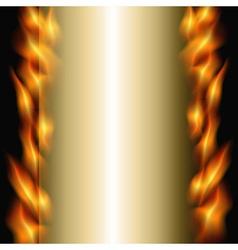 burning backdrop vector image