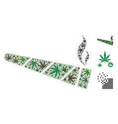 Cannabis cigarette collage of cannabis vector