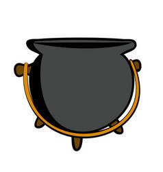 cartoon grey pot vector image
