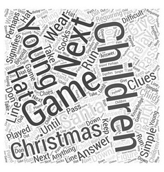 Christmas party games young children word cloud vector