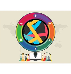 colourful circle vector image