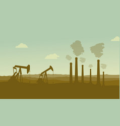 Construction industry silhouette landscape vector