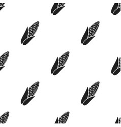 Corn icon black singe vegetables icon from the vector