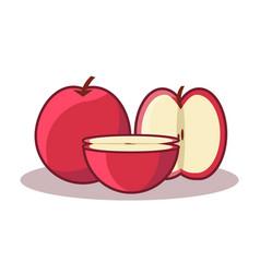 Cute apple simple vector