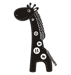 Cute cartoon giraffe vector