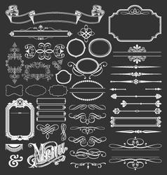 Decorative vintage design elements vector