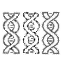 dna concept in form dots vector image