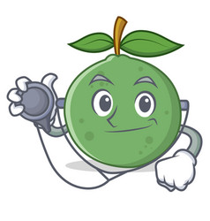 Doctor guava character cartoon style vector