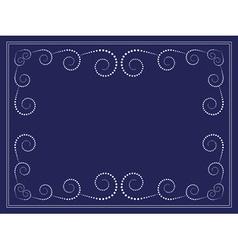 Dots swirl frame vector