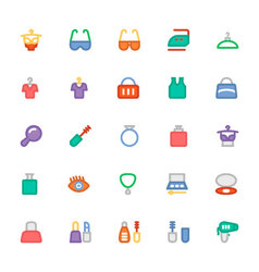 Fashion Colored Icons 7 vector image