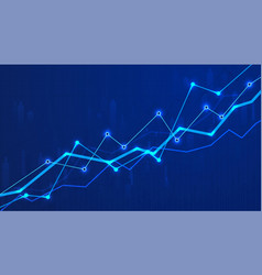 financial graph chart business data analytics vector image