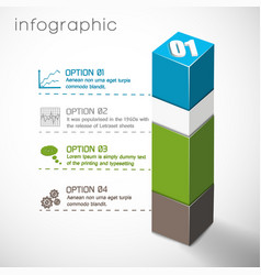 Geometric composition infographics vector