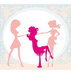 Girl in a beauty salon vector